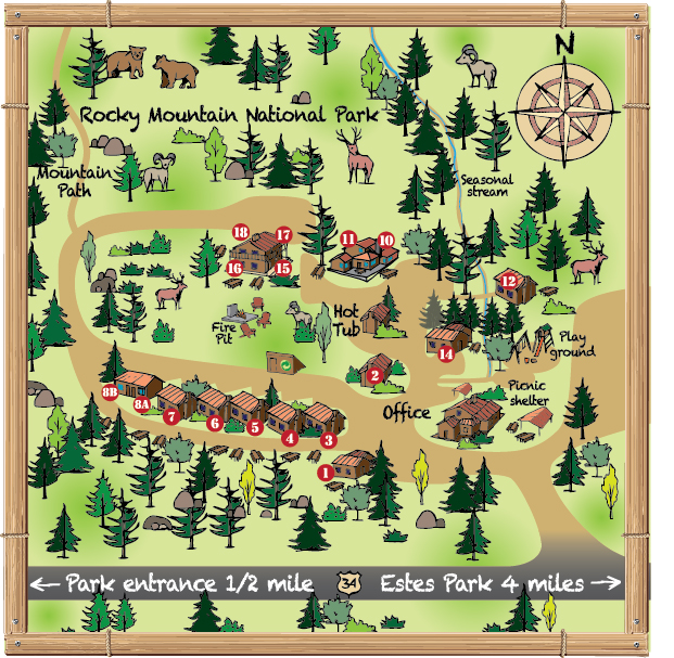 McGregor Mountain Lodge Map