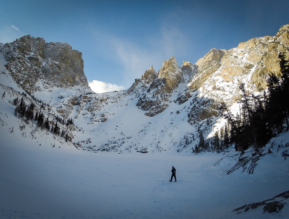Best snowshoeing trail in rocky mountain national park