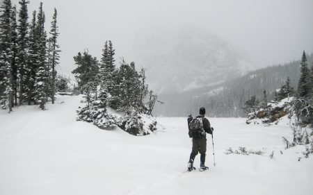rocky mountain national park snowshoeing